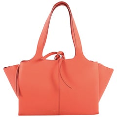 Celine Tri-Fold Shoulder Bag Grained Calfskin Small