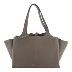 Celine Tri-Fold Shoulder Bag Grained Calfskin Small