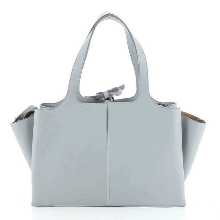 Gray Celine Tri-Fold Shoulder Bag Smooth Calfskin Medium For Sale