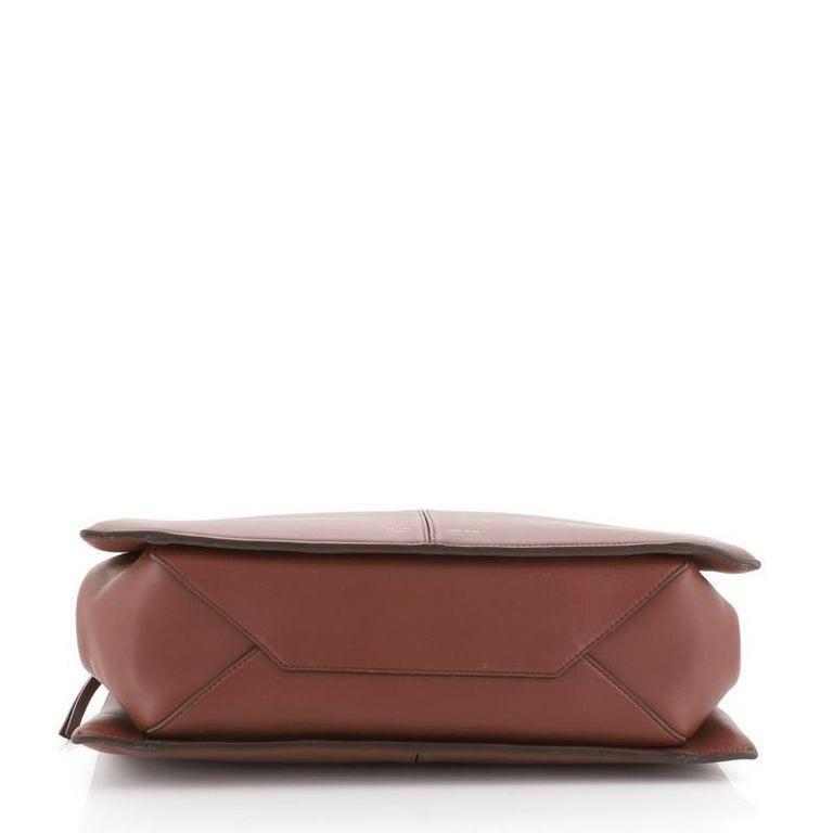 Women's or Men's Celine Tri-Fold Shoulder Bag Smooth Calfskin Medium For Sale