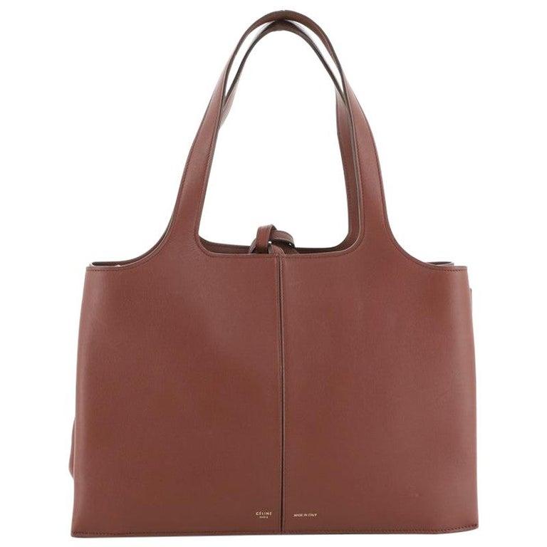 Celine Tri-Fold Shoulder Bag Smooth Calfskin Medium For Sale