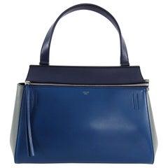 Celine Tricolor Blue Black Grey Small Edge Bag
