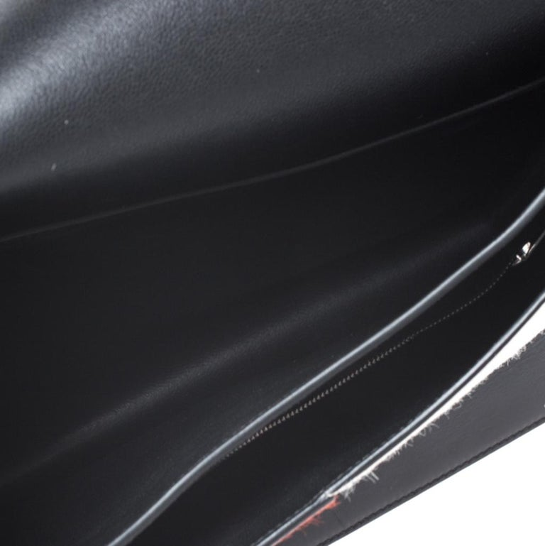 Celine Tricolor Leather and Calfhair Medium Diamond Shoulder Bag For Sale 2