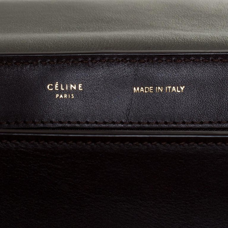 Celine Tricolor Leather and Suede Large Trapeze Bag For Sale 1