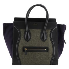 Celine Tricolor Luggage Bag Felt Mini