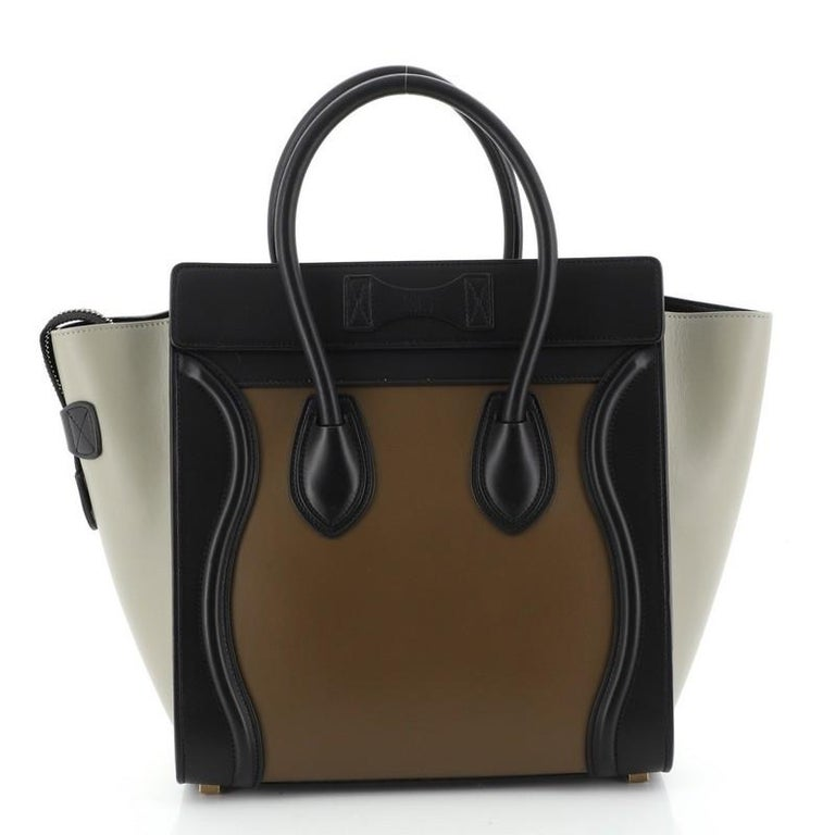 Celine  Tricolor Luggage Bag Leather Micro In Good Condition For Sale In New York, NY