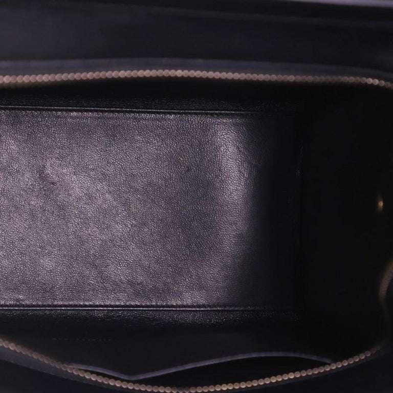 Women's or Men's Celine Tricolor Luggage Bag Leather Micro For Sale