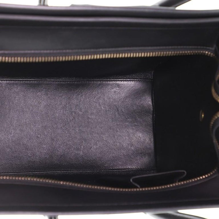 Celine  Tricolor Luggage Bag Leather Micro For Sale 1