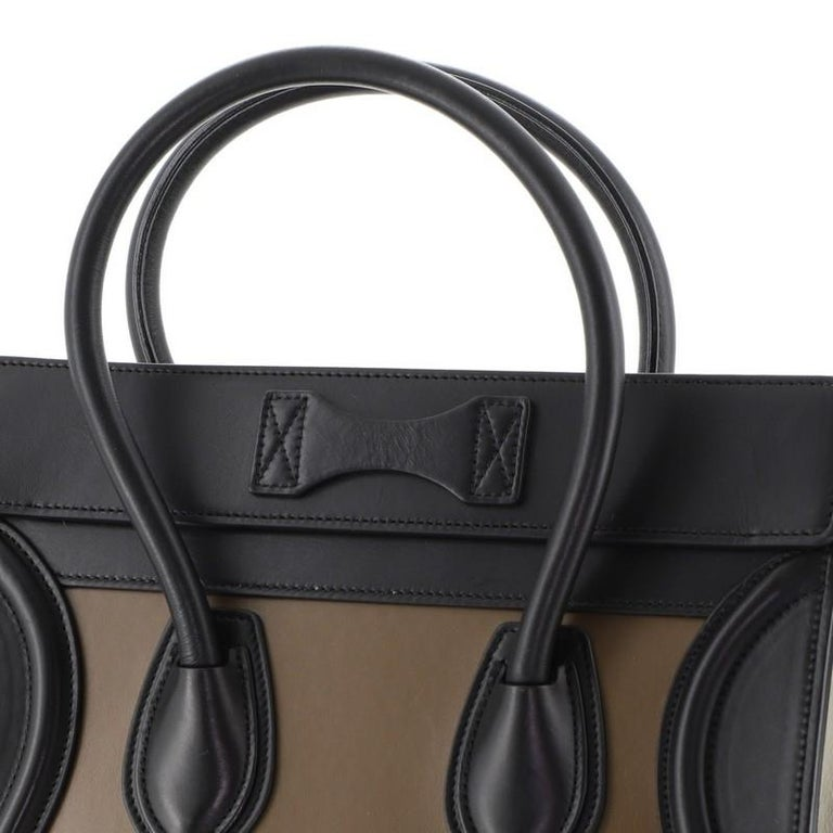 Celine  Tricolor Luggage Bag Leather Micro For Sale 3