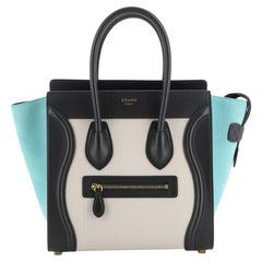 Celine Tricolor Luggage Bag Leather Micro