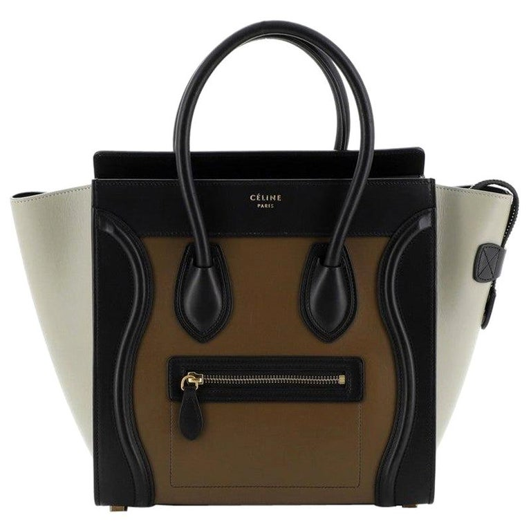 Celine  Tricolor Luggage Bag Leather Micro For Sale