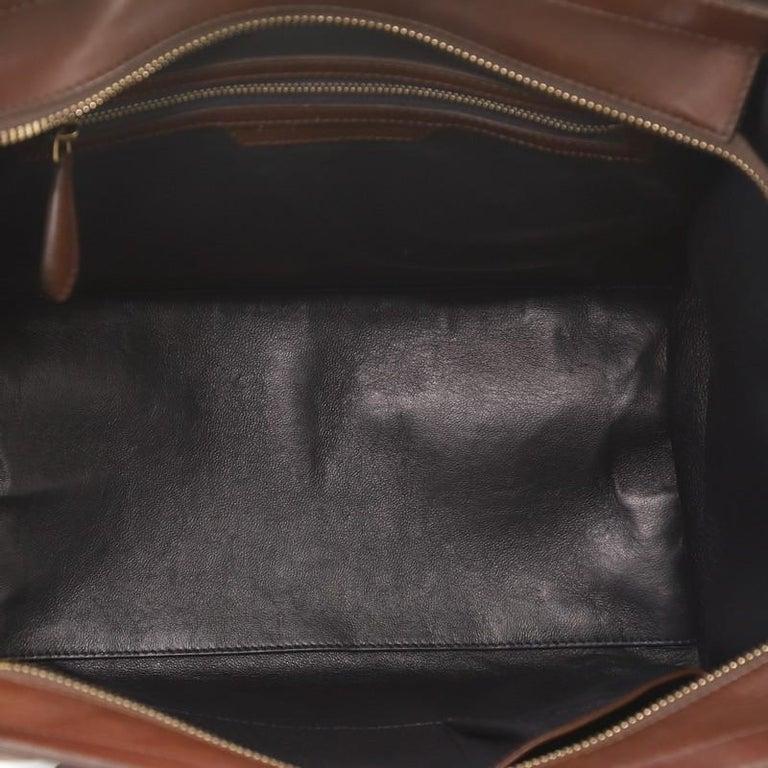 Women's or Men's Celine Tricolor Luggage Bag Leather Mini For Sale