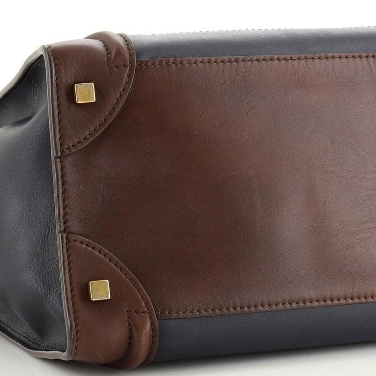Celine Tricolor Luggage Bag Leather Mini For Sale 1