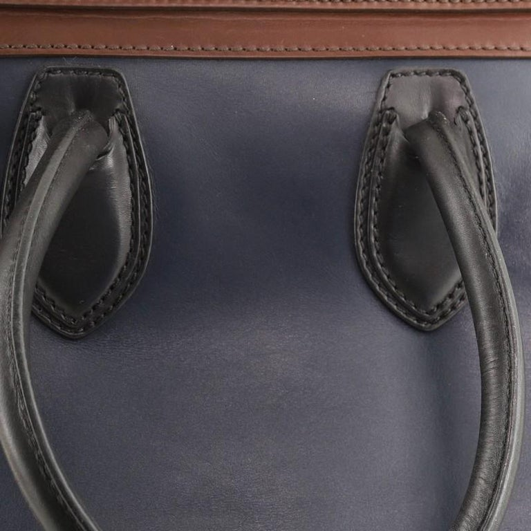 Celine Tricolor Luggage Bag Leather Mini For Sale 3