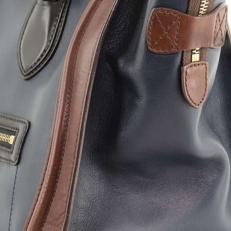 Celine Tricolor Luggage Bag Leather Mini For Sale 4