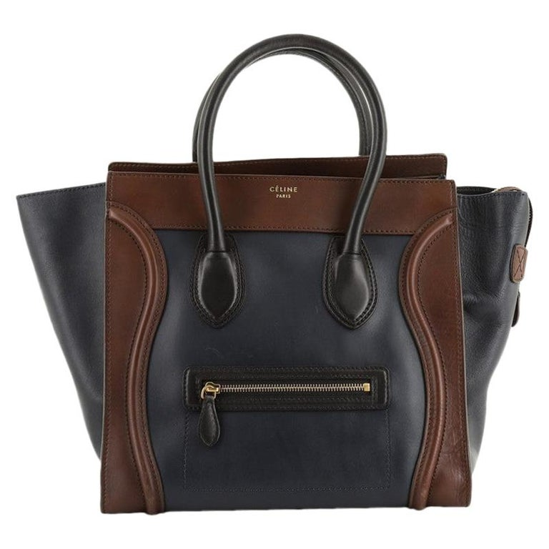 Celine Tricolor Luggage Bag Leather Mini For Sale