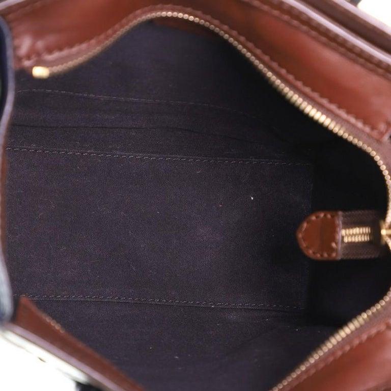 Women's or Men's Celine Tricolor Luggage Bag Leather Nano For Sale
