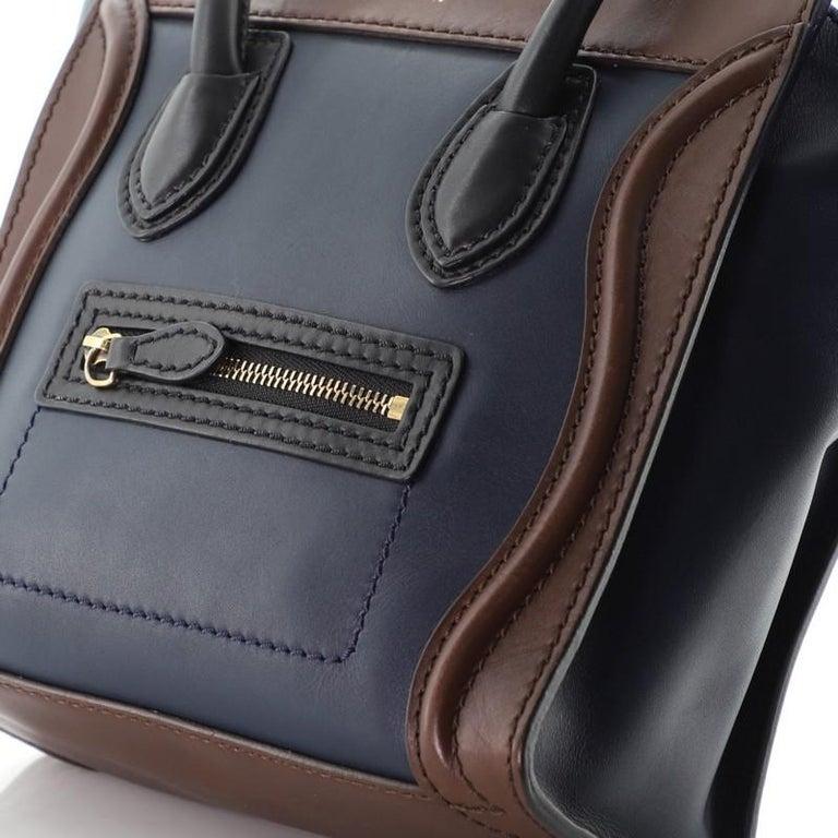 Celine Tricolor Luggage Bag Leather Nano For Sale 1
