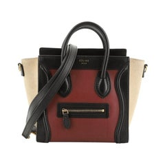 Celine Tricolor Luggage Bag Leather Nano