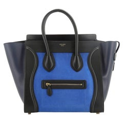 Celine Tricolor Luggage Bag Nubuck Mini