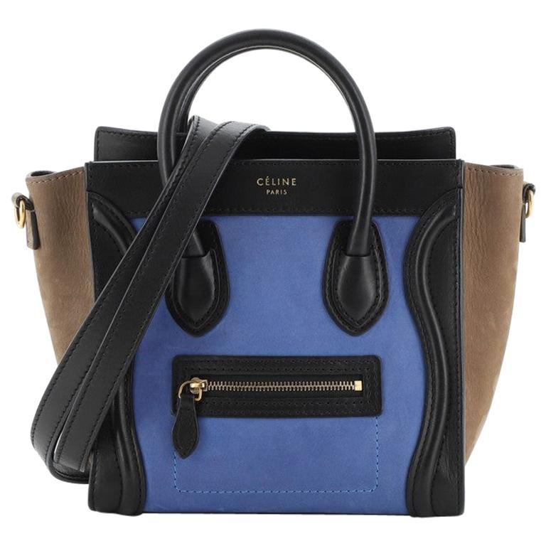 Celine Tricolor Luggage Bag Nubuck Nano