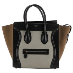 Celine Tricolor Luggage Bag Suede Mini
