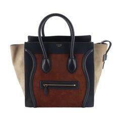 Celine Tricolor Luggage Bag Suede Mini