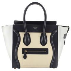 Celine Tricolor Luggage Handbag Leather Micro