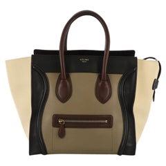 Celine Tricolor Luggage Handbag Leather Min