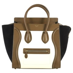 Celine Tricolor Luggage Handbag Leather Mini