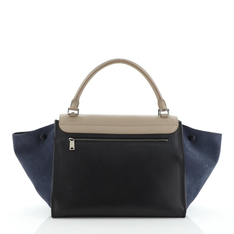 Celine Tricolor Trapeze Bag Leather Medium In Good Condition For Sale In New York, NY