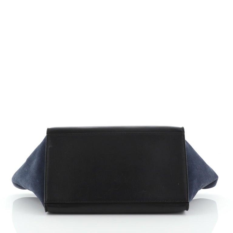 Women's or Men's Celine Tricolor Trapeze Bag Leather Medium For Sale