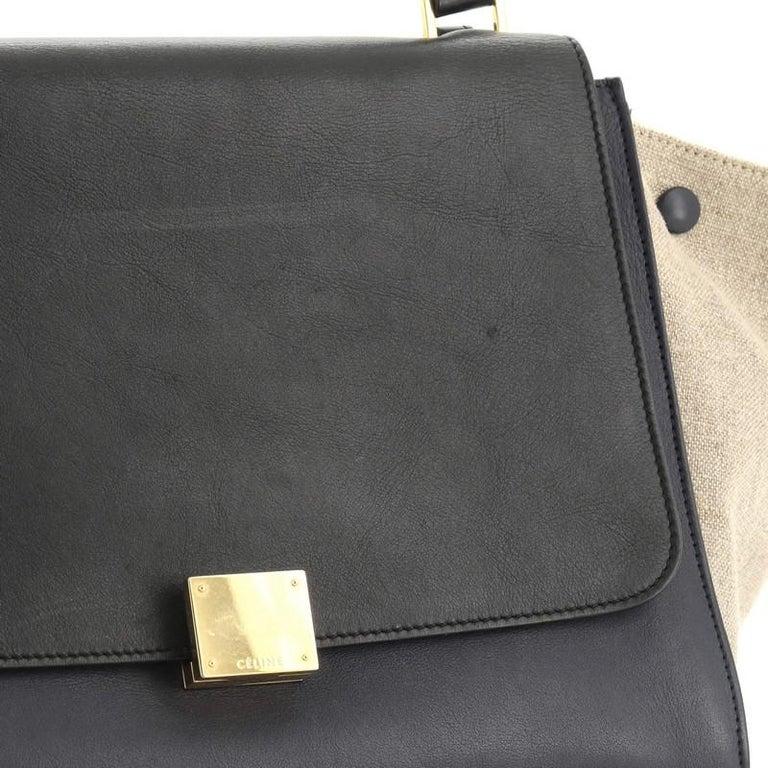 Celine Tricolor Trapeze Bag Leather Medium  2