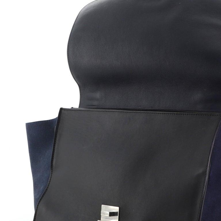Celine Tricolor Trapeze Bag Leather Medium For Sale 4