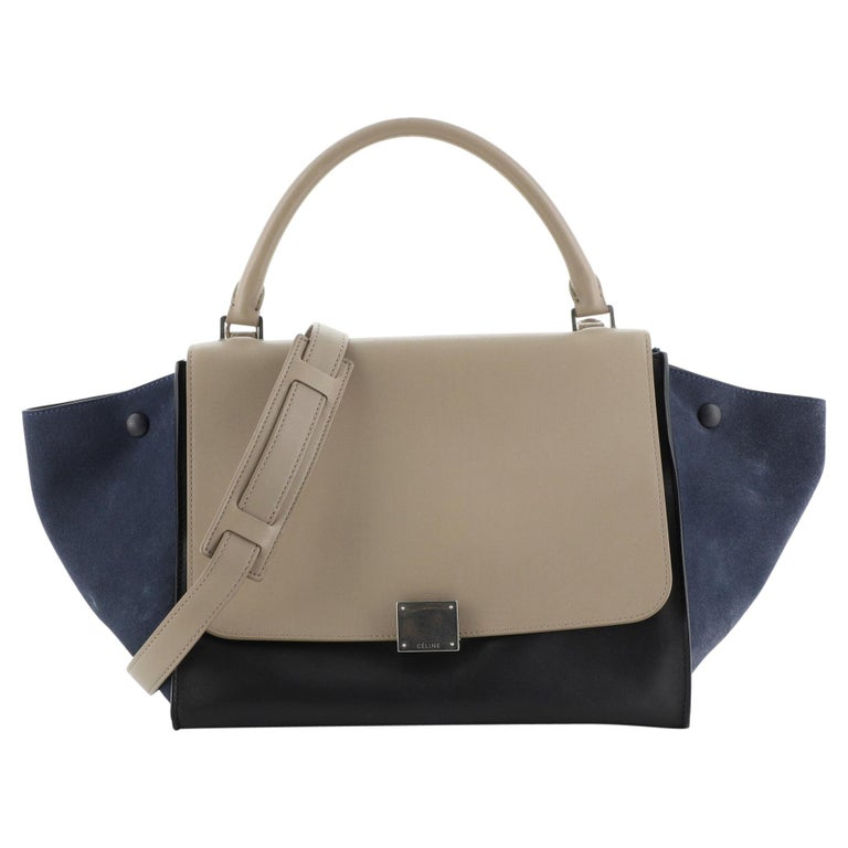 Celine Tricolor Trapeze Bag Leather Medium For Sale
