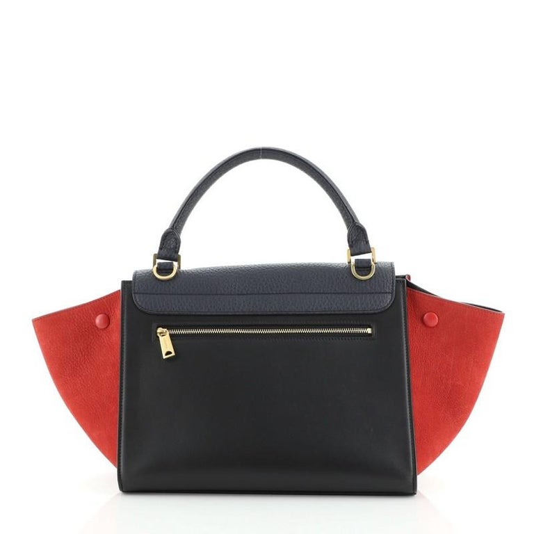 Women's or Men's Celine Tricolor Trapeze Bag Leather Small For Sale