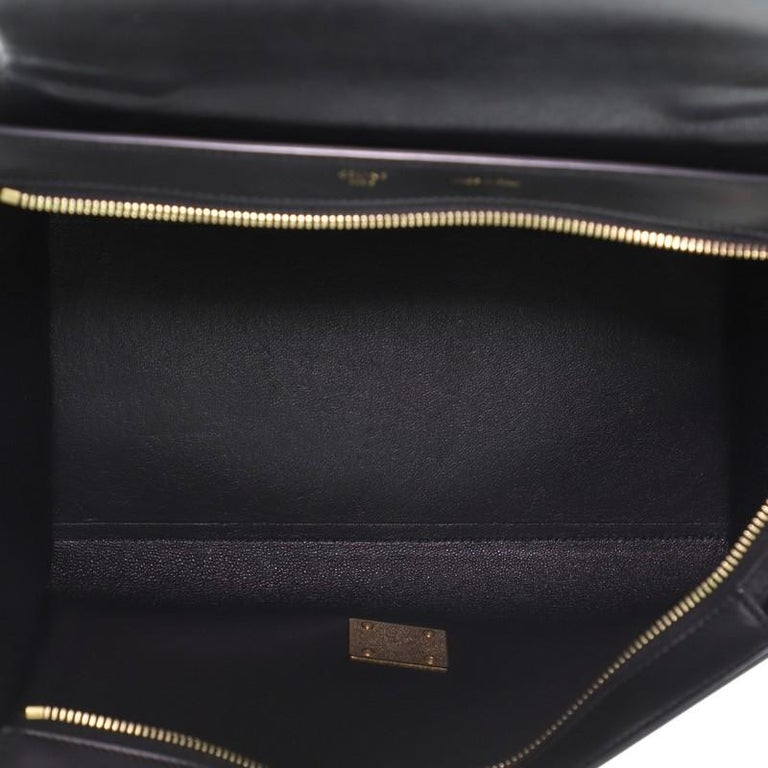 Celine Tricolor Trapeze Bag Leather Small For Sale 2