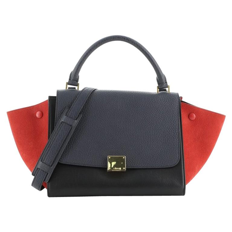 Celine Tricolor Trapeze Bag Leather Small For Sale