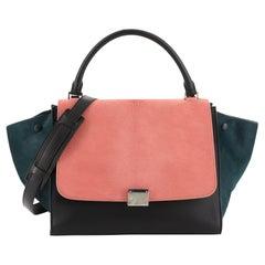 Celine Tricolor Trapeze Handbag Pony Hair Medium