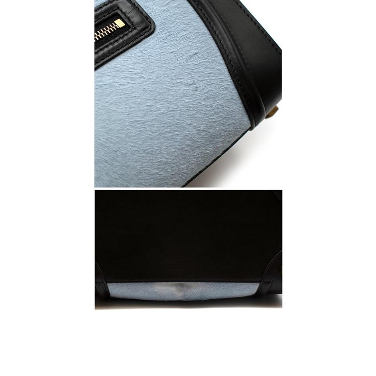 Celine Tricolour Leather & Pony Hair Mini Luggage Tote  For Sale 1