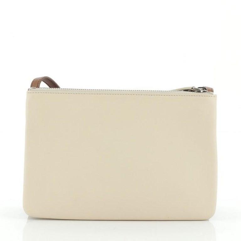Women's or Men's Celine Trio Crossbody Bag Leather Small For Sale