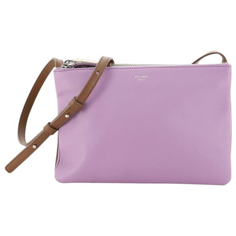 Celine Trio Crossbody Bag Leather Small For Sale