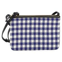 Celine Trio Crossbody Bag Printed Jacquard and Leather Small