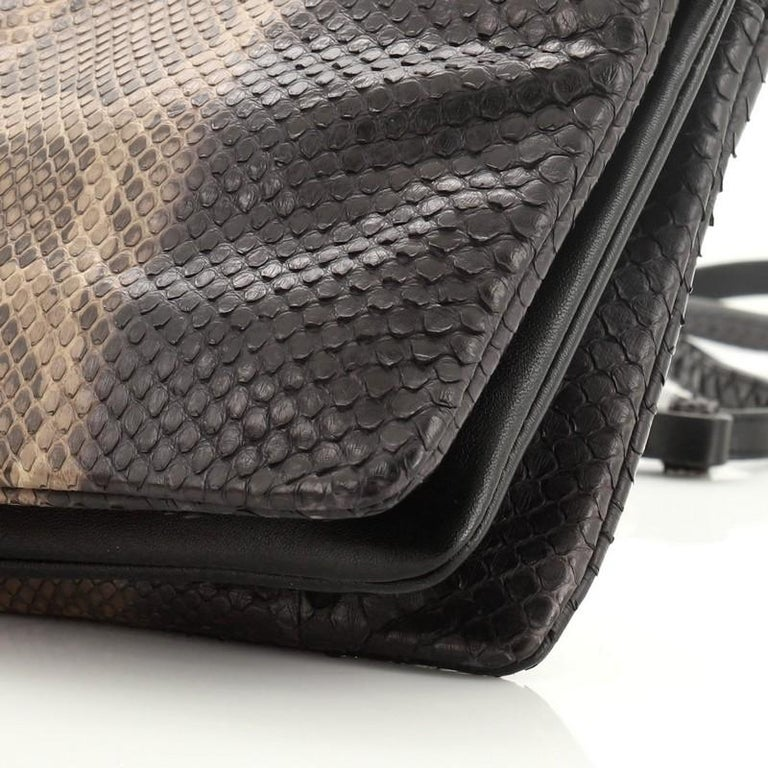 Celine Trio Crossbody Bag Python and Leather Small For Sale 2
