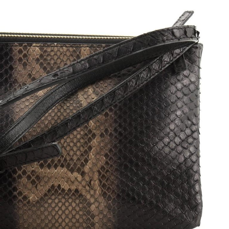 Celine Trio Crossbody Bag Python and Leather Small For Sale 3
