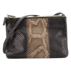 Celine Trio Crossbody Bag Python and Leather Small