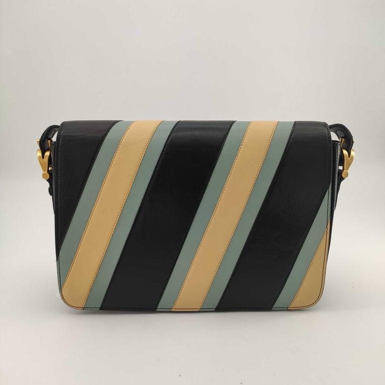 Black CÉLINE Triomphe Shoulder bag in Multicolour Leather