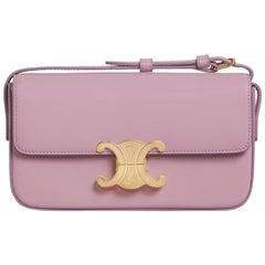 Celine Triomphe Shoulder Bag in Shiny Calfskin Lavender Grey Should Bag