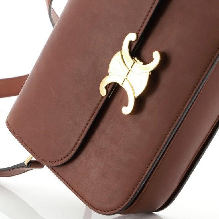 Celine Triomphe Shoulder Bag Smooth Calfskin Medium 2
