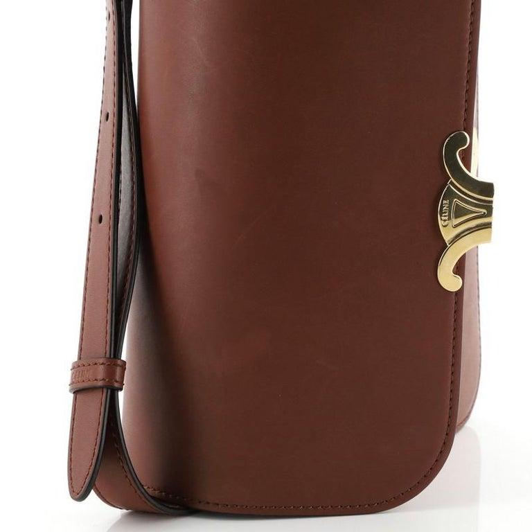 Celine Triomphe Shoulder Bag Smooth Calfskin Medium 3